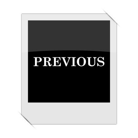 previous: Previous icon within a photo on white background