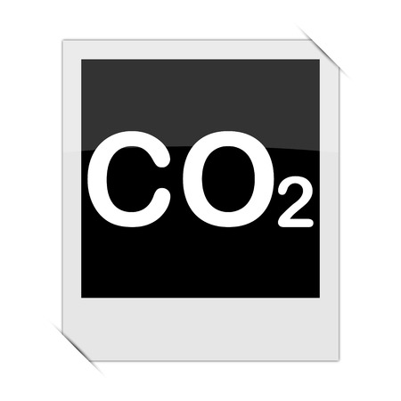 co2: CO2 icon within a photo on white background