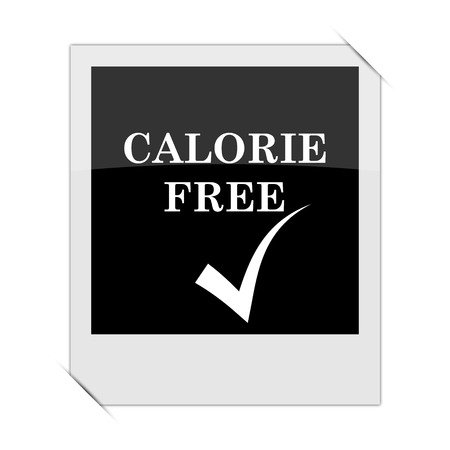calorie: Calorie free icon within a photo on white background