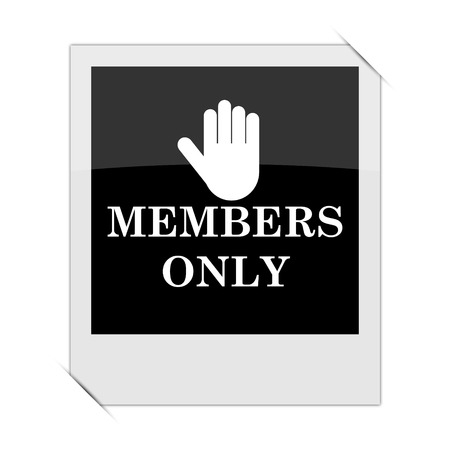 only members: Members only icon within a photo on white background