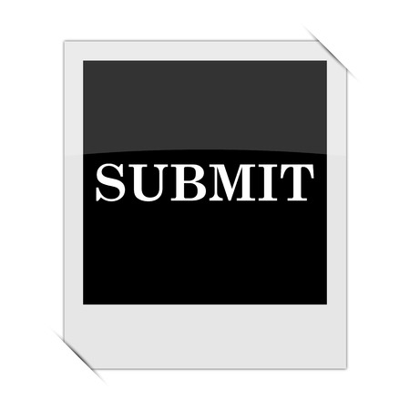 submit: Submit icon within a photo on white background