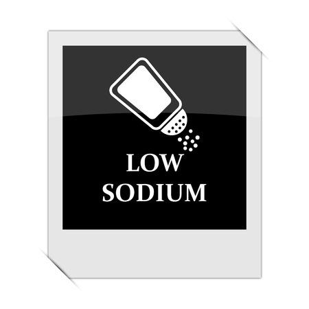 salt free: Low sodium icon within a photo on white background