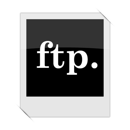 ftp: ftp. icon within a photo on white background