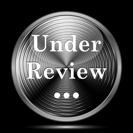 reviewed: Under review icon. Internet button on black background.