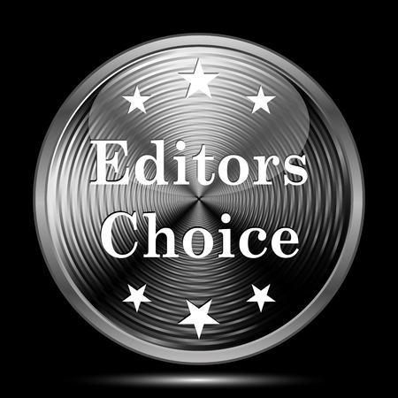 editors: Editors choice icon. Internet button on black background. Stock Photo
