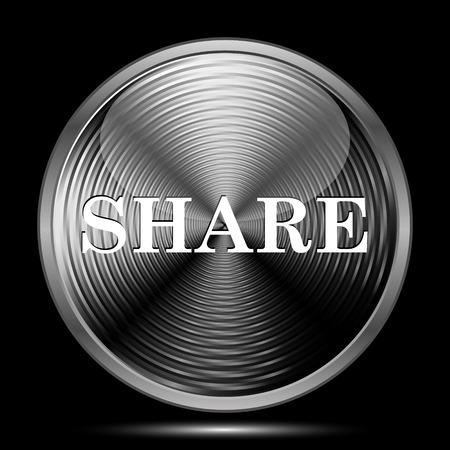 share icon: Share icon. Internet button on black background.