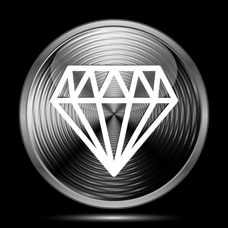 unbreakable: Diamond icon. Internet button on black background. Stock Photo