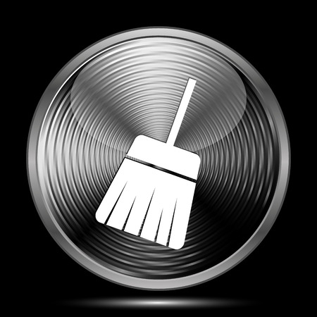 sweep: Sweep icon. Internet button on black background.