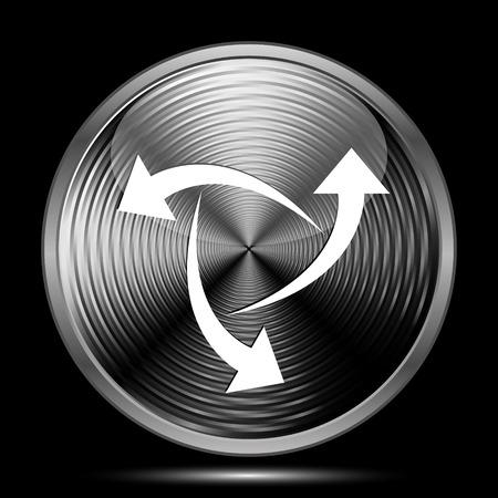 succes: Change icon. Internet button on black background.