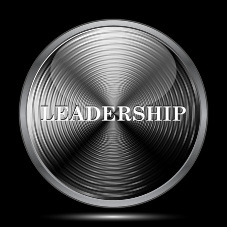 superintendence: Leadership icon. Internet button on black background. Stock Photo