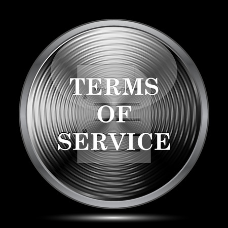 term and conditions: Terms of service icon. Internet button on black background.