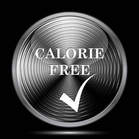 the calorie: Calorie free icon. Internet button on black background. Stock Photo