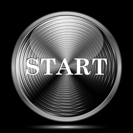 proceed: Start icon. Internet button on black background.
