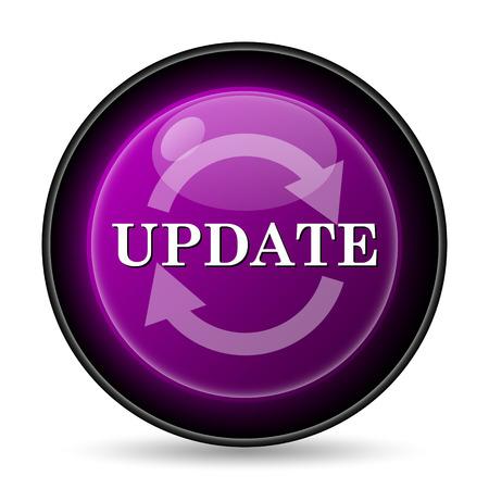 mauve: Update icon. Internet button on white background. Stock Photo