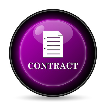 sign contract: Contract icon. Internet button on white background.
