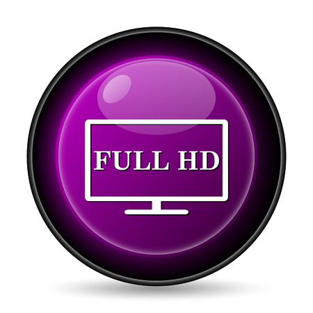 full hd: Full HD icon. Internet button on white background.