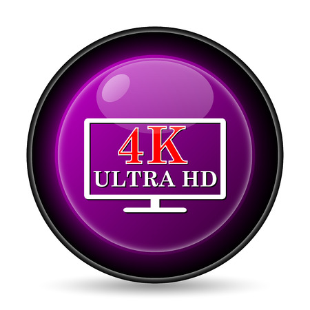 ultra: ultra HD icon. Internet button on white background.