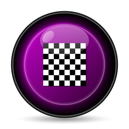finish flag: Finish flag icon. Internet button on white background.