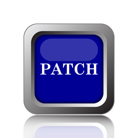 demo: Patch icon. Internet button on white background.