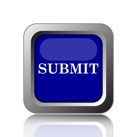 submit button: Submit icon. Internet button on white background.