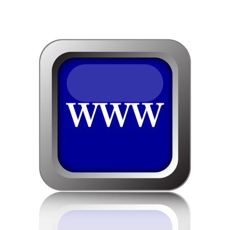 www icon: WWW icon. Internet button on white background. Stock Photo