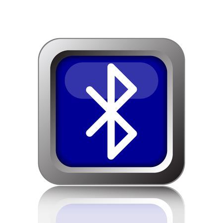 bluetooth: Bluetooth icon. Internet button on white background. Stock Photo