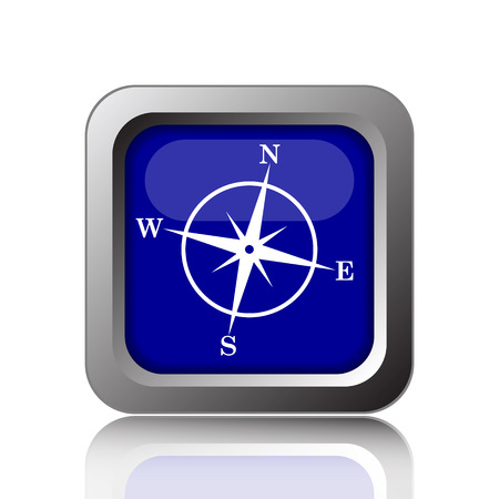 geodesy: Compass icon. Internet button on white background.