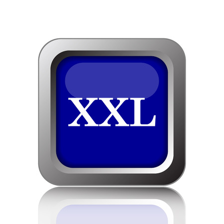 specification: XXL  icon. Internet button on white background. Stock Photo