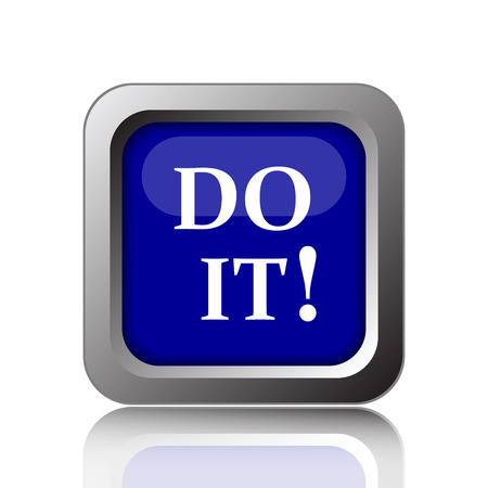 it: Do it icon. Internet button on white background.