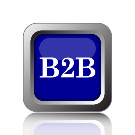 b2b: B2B icon. Internet button on white background. Stock Photo
