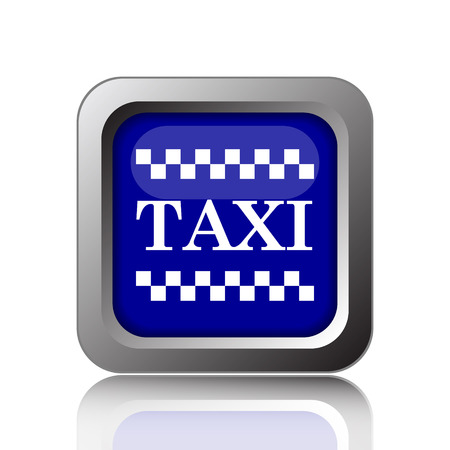 Taxi icon. Internet button on white background. Фото со стока