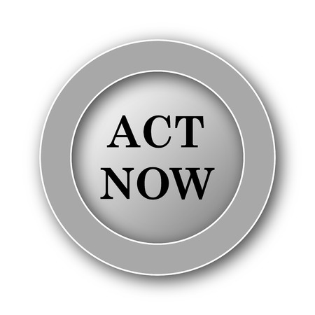 activist: Act now icon. Internet button on white background.