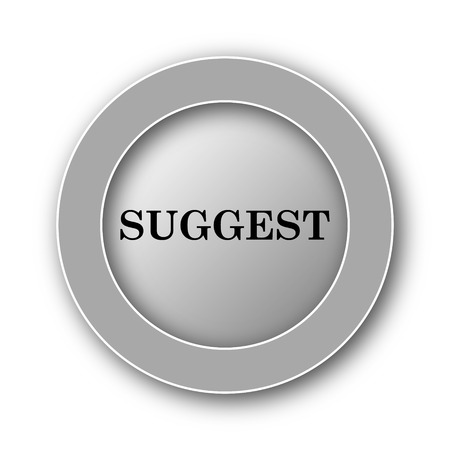 refer: Suggest icon. Internet button on white background.