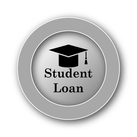student loan: Student loan icon. Internet button on white background. Stock Photo