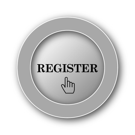 fill up: Register icon. Internet button on white background.
