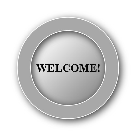 come: Welcome icon. Internet button on white background. Stock Photo