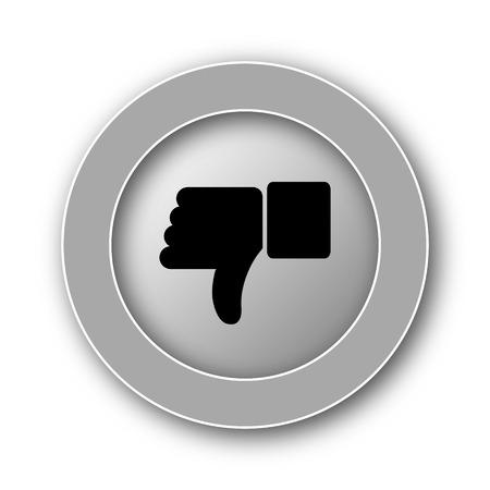 thumb down: Thumb down icon. Internet button on white background.