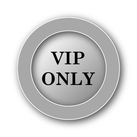 rich black wallpaper: VIP only icon. Internet button on white background. Stock Photo