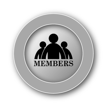 vip area: Members icon. Internet button on white background. Stock Photo