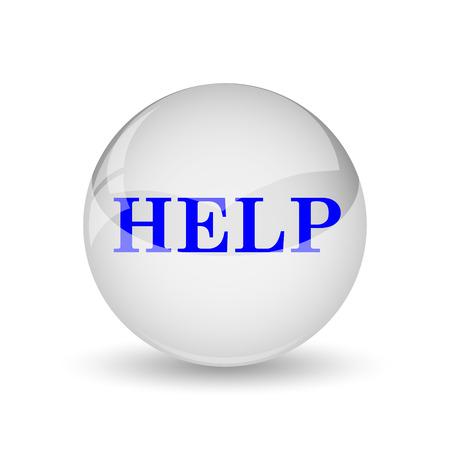 internet background: Help icon. Internet button on white background.