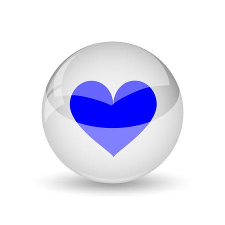 heart icon: Heart icon. Internet button on white background. Stock Photo