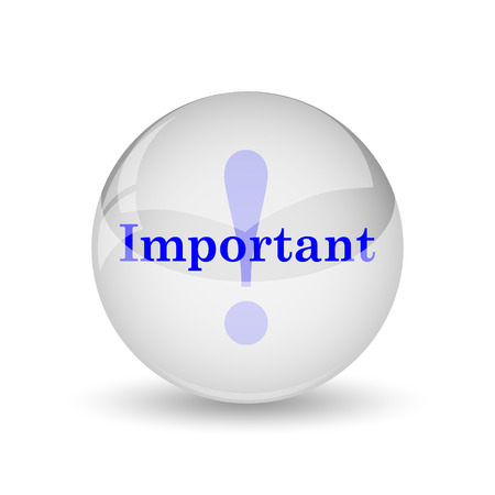 importance: Important icon. Internet button on white background.