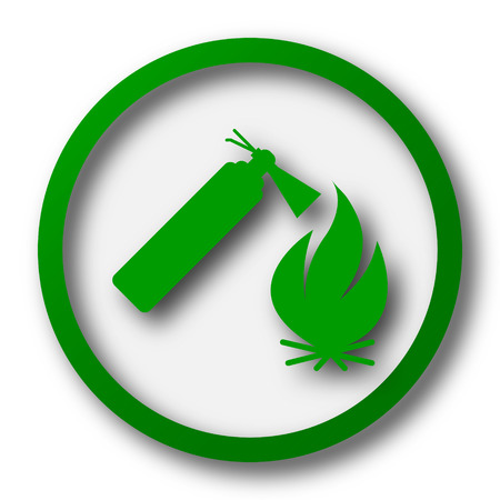 flammability: Fire icon. Internet button on white background.