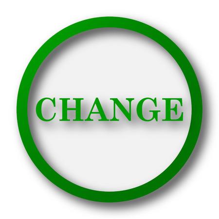 evolve: Change icon. Internet button on white background.