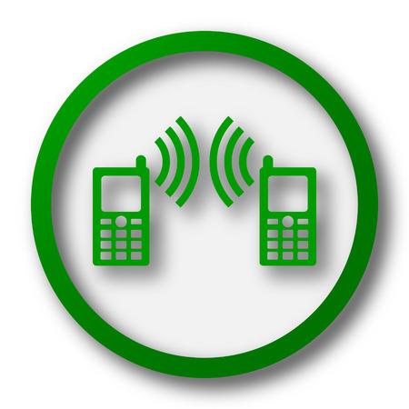 icono comunicacion: Icono de la comunicaci�n. Bot�n de internet sobre fondo blanco.