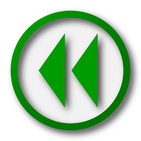 rewind: Rewind icon. Internet button on white background. Stock Photo