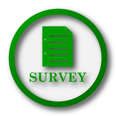 survey: Survey icon. Internet button on white background.