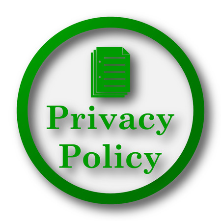 Privacy policy icon. Internet button on white background. Фото со стока