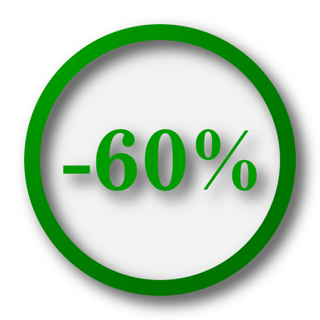 60: 60 percent discount icon. Internet button on white background.
