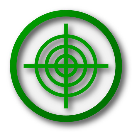 dart on target: Target icon. Internet button on white background.